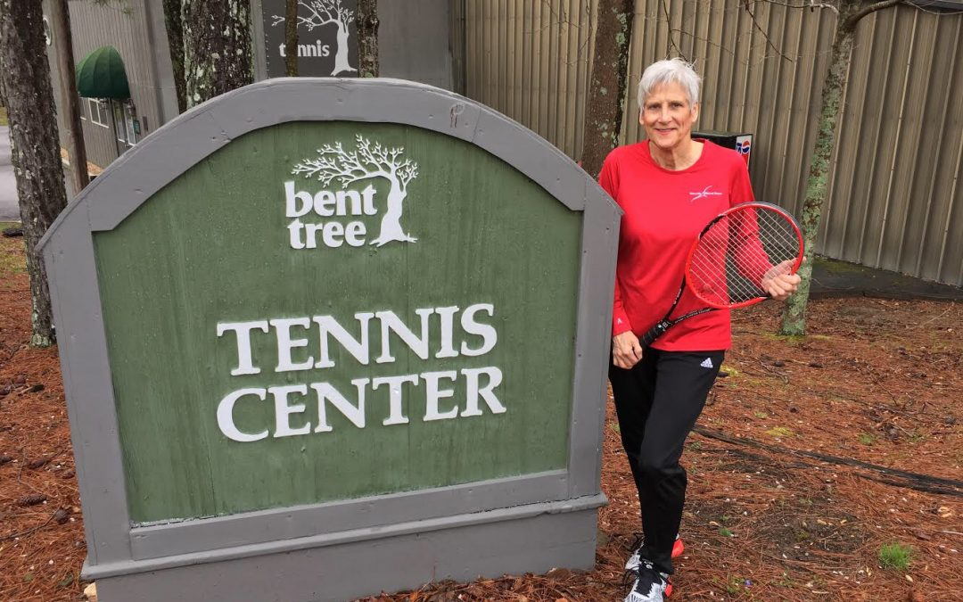 Carol C loves playing tennis at Bent Tree